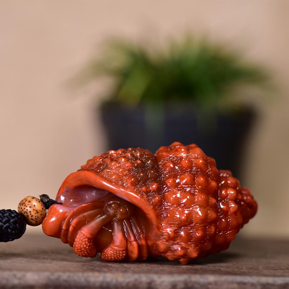 南红玉雕 寄居蟹