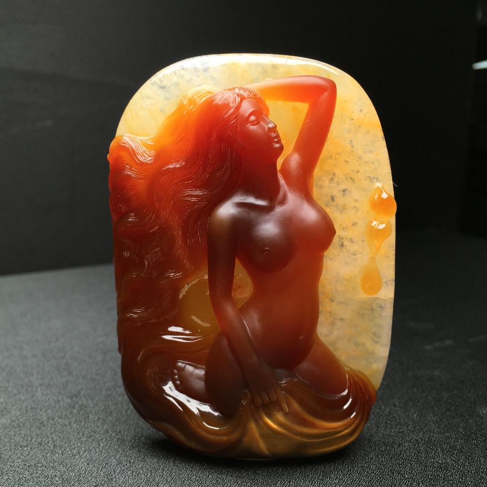 玛瑙玉雕 倩影
